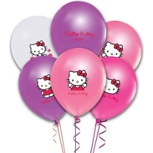 Hello Kitty Basklı Latex Balon (100 Adet)