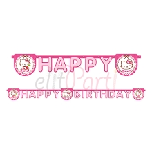 Hello Kitty Happy Birthday Yazısı (200 cm)