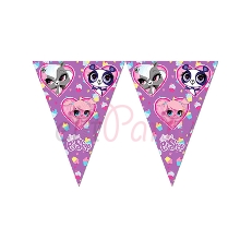 Minişler Littlest Pet Shop Flama Bayrak (300 x 29 cm)