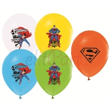 Superman Baskılı Latex Balon (5 Adet)